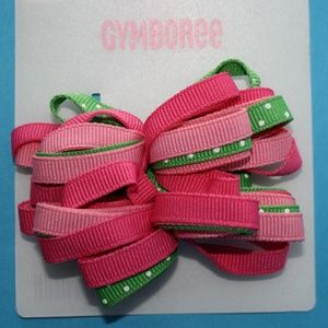 Spring Fun Bows Pink Green Curly Loop Gymboree NWT